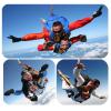 Прыжок с парашютом в тандеме с инструктором.